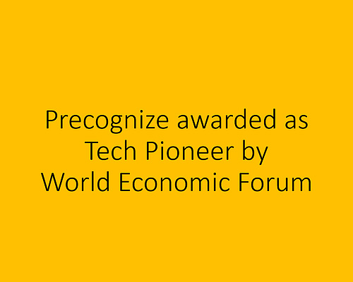 Precognize Awarded as Technology Pioneer by World Economic Forum